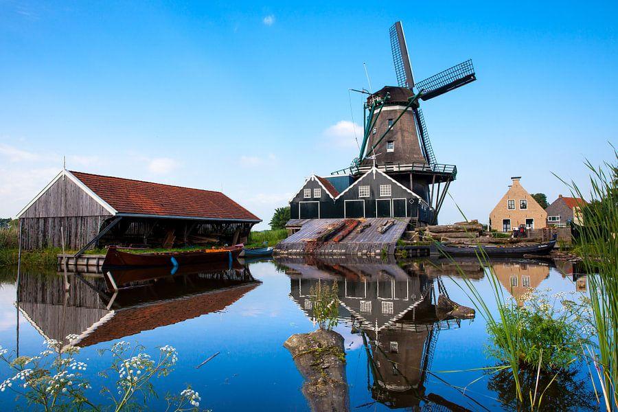 Windmolen De Rat in de stad IJlst in Friesland. Wout Kok One2expose Photography