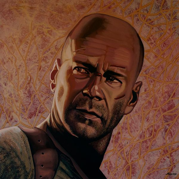 Bruce Willis Schilderij van Paul Meijering