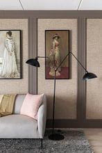 Kundenfoto: Harmonie in Rosa und Grau: Lady Meux, James Abbott McNeill Whistler, auf leinwand