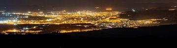 Granada panorama in het donker van Jordy Blokland