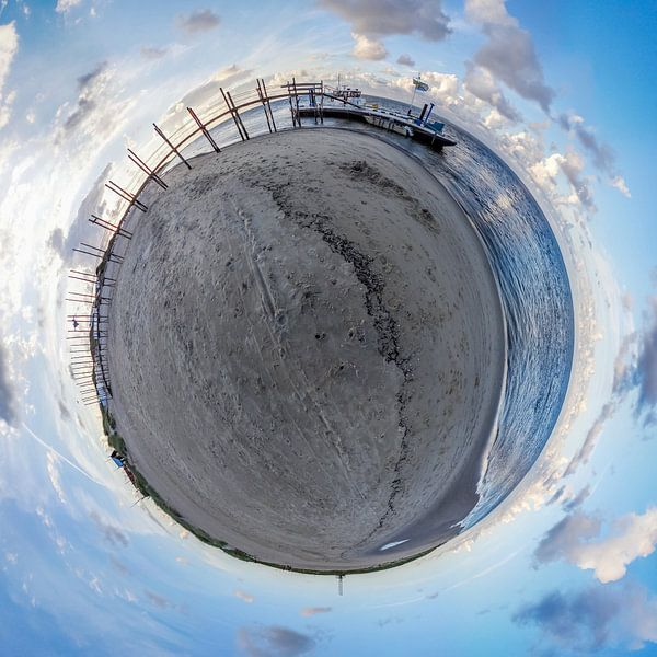 Tiny planet De vriendschap van Texel360Fotografie Richard Heerschap