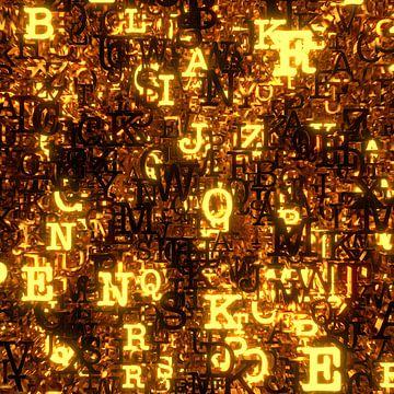 Glowing Letters van Jörg Hausmann