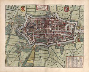 Alkmaar, Stadsplattegrond Joan Blaeu 1652