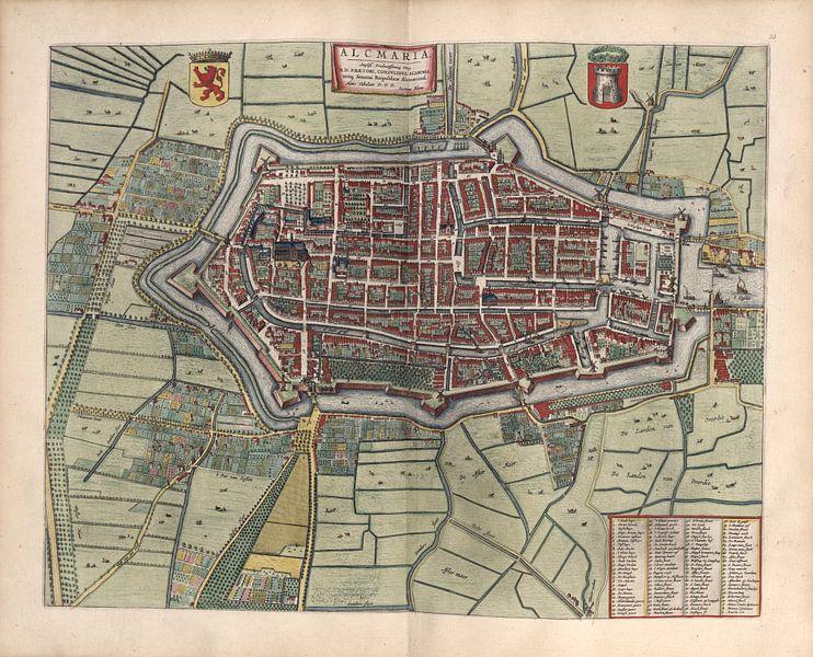 Alkmaar, Stadsplattegrond Joan Blaeu 1652 van Atelier Liesjes