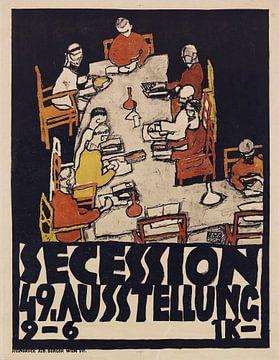 Secession 49e tentoonstelling, Egon Schiele, 1918 van Atelier Liesjes