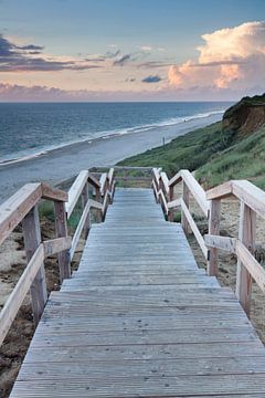 Strand van Kampen bij zonsondergang van Markus Lange