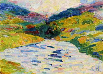Landschaft mit Flusslauf, CURT HERRMANN, Um 1910