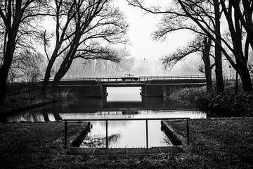 Bosbaan im Nebel, Amsterdamer Wald von Paul van Putten