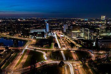 Panorama-Rotterdam-Nachtverkehr von Daan Kloeg