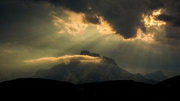 Schemering Monte Cristallo van Henk Goossens