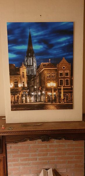 Klantfoto: Sint Petrus kerk (grote kerk) Sittard bij nacht van Marcel van Kan, op xpozer