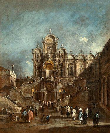 Vue du Campo San Zanipolo à Venise, Francesco Guardi