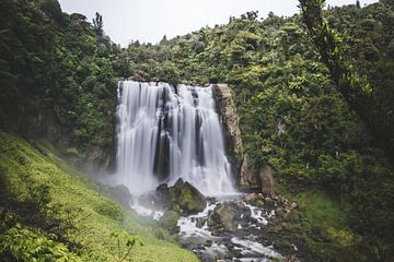 Marokopa waterval Waikato, Nieuw Zeeland van Tom in 't Veld