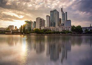 Skyline van Frankfurt van