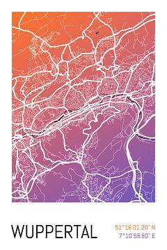 Wuppertal - Stadsplattegrondontwerp Stadsplattegrond (kleurverloop) van ViaMapia