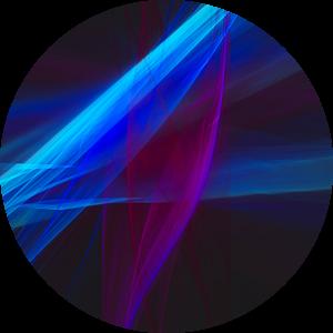 Abstract digitaal fractal schilderij met winterbloemen van Pat Bloom - Moderne 3D, abstracte kubistische en futurisme kunst