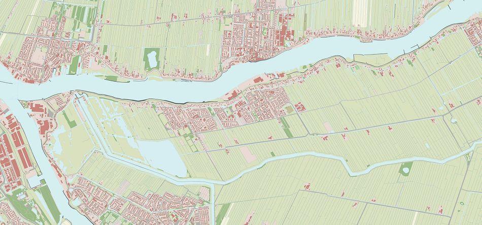 Kaart van Nieuw-Lekkerland