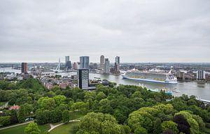 Het cruiseschip Harmony of the Seas in Rotterdam