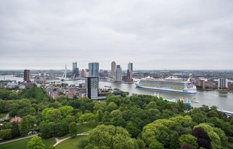 Het cruiseschip Harmony of the Seas in Rotterdam van MS Fotografie | Marc van der Stelt