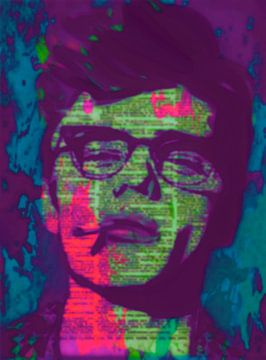 James Dean Newspaper Pop Art PUR 2 van