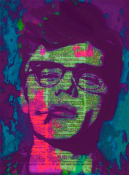 James Dean Newspaper Pop Art PUR 2