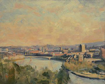 Panorama Ostufer Maastricht von Nop Briex
