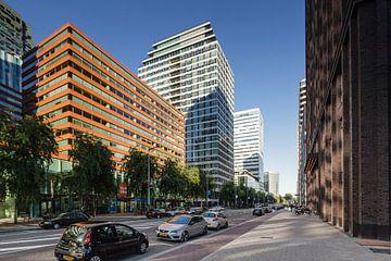 Kantoren aan de ZuidAs in Amsterdam. Moderne architectuur aan de Gustav Mahlerlaan sur Martin Stevens
