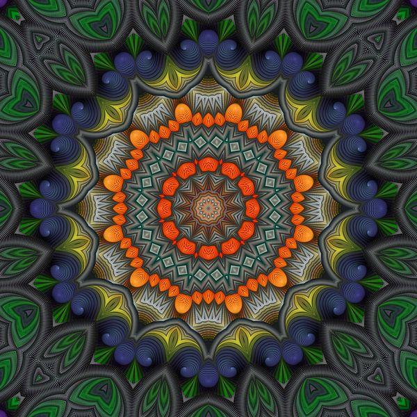 Mandala warmte van Marion Tenbergen