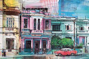 Havana, Cuba schilderij von