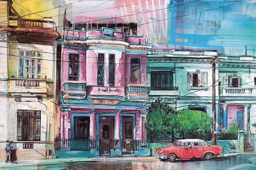 Havana, Cuba schilderij van Jos Hoppenbrouwers