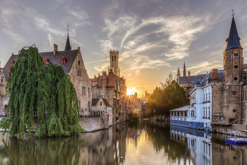 Brugge, Rozenhoedkaai van Fotografie Krist / Top Foto Vlaanderen