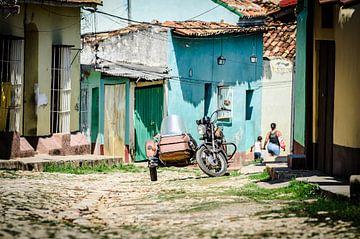 Motorfiets in Trinidad van Merijn Koster