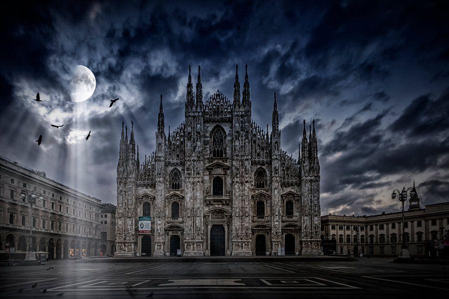 SURREAL ART Milan Cathedral  van Melanie Viola