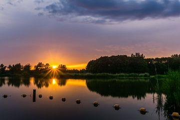 Stilte ~ Zonsondergang, Recreatiegebied Vlietlanden von Carla Matthee