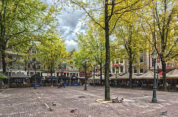 Het Leidseplein in Amsterdam.  van