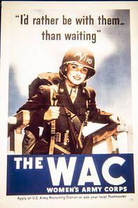Affiche de recrutement pour le WAC
