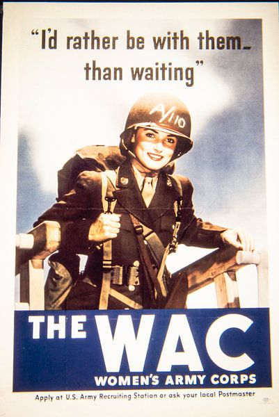 Wervingsposter voor de WAC van Brian Morgan