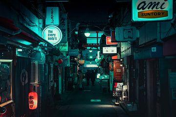 De steegjes van Golden Gai in Shinjuku van Mickéle Godderis