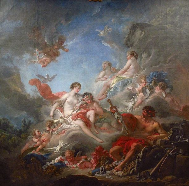 François Boucher - De smeden van Vulcan van 1000 Schilderijen