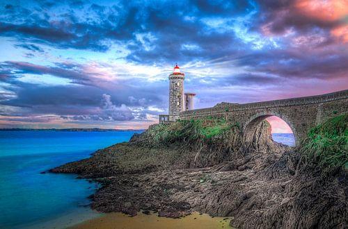 Vuurtoren  Phare du Petit Minou Bretagne Frankrijk van