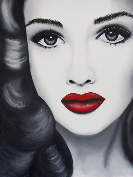 Emma Pop-Art-Porträt von anja verbruggen