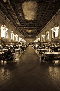 De grote leeszaal @ NYPL van