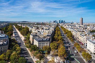 Blick auf die Bürostadt La Defense in Paris, Frankreich von Rico Ködder