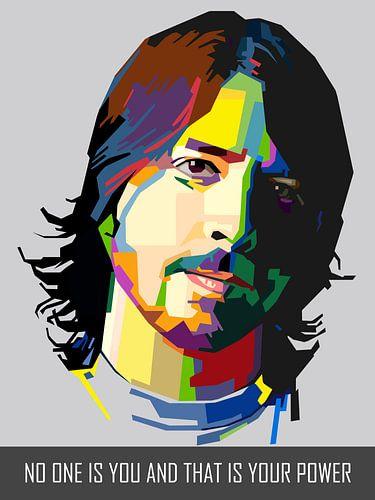 Pop Art Dave Grohl - Foo Fighters van