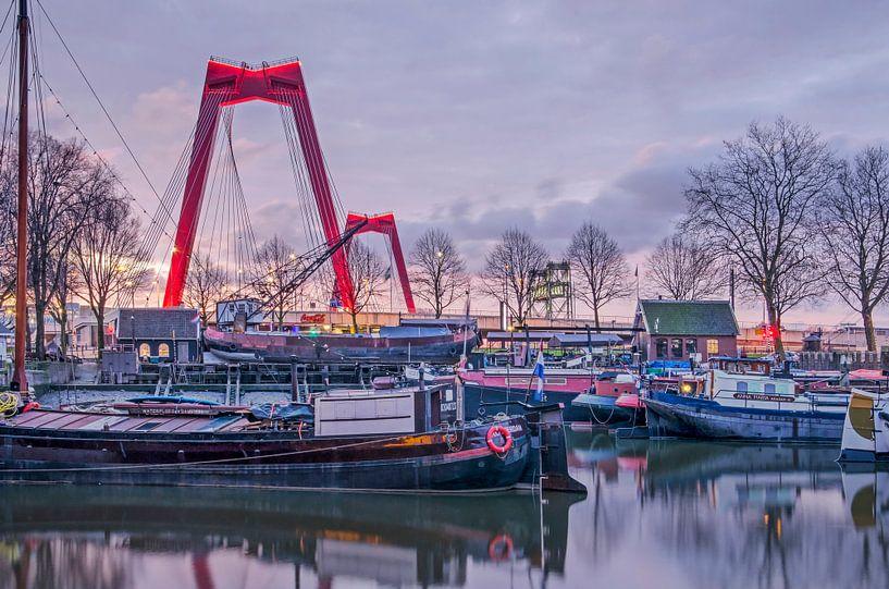 Willemsbrug en Oude Haven, Rotterdam van Frans Blok