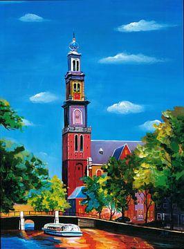 Amsterdam schilderij Westerkerk von Kunst Company