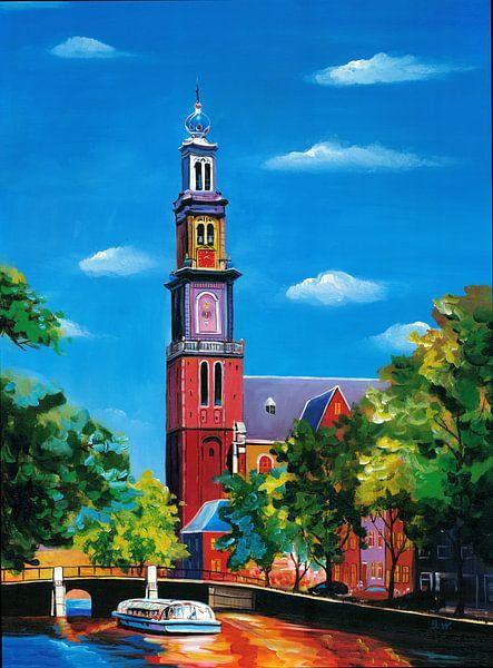 Amsterdam schilderij Westerkerk van Kunst Company