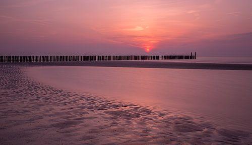 Sunset at Domburg Beach