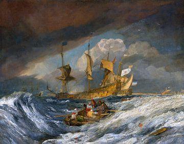 Ankerboote für Kriegsschiffe aus den Niederlanden, 1804 von Atelier Liesjes
