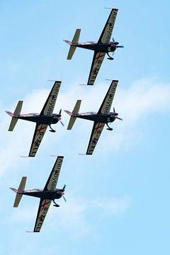 Diamant formatie van het Blades aerobatics team van Wim Stolwerk